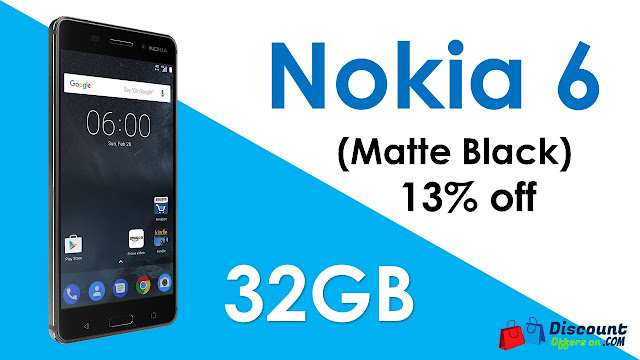 Nokia 6 (32 GB) - 13% Off Discount Offer. Best deal for Nokia 6. Get huge discount on Nokia 6 mobile phone.