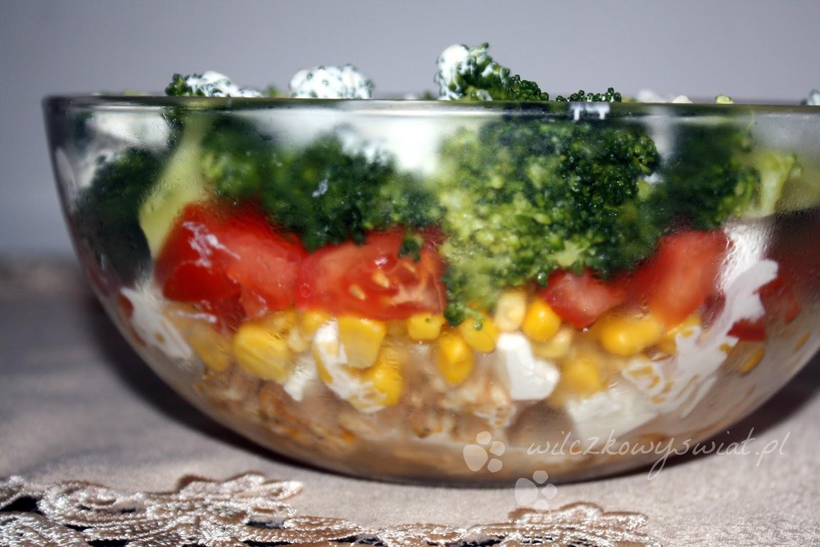 Salatka Warstwowa Z Kurczakiem Feta I Brokulem Wilczkowy Swiat