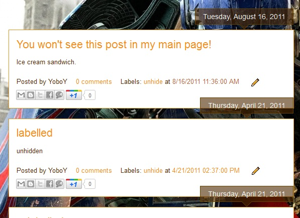Hide Certain Posts from Blogger Homepage | Southern Speakers v3 0