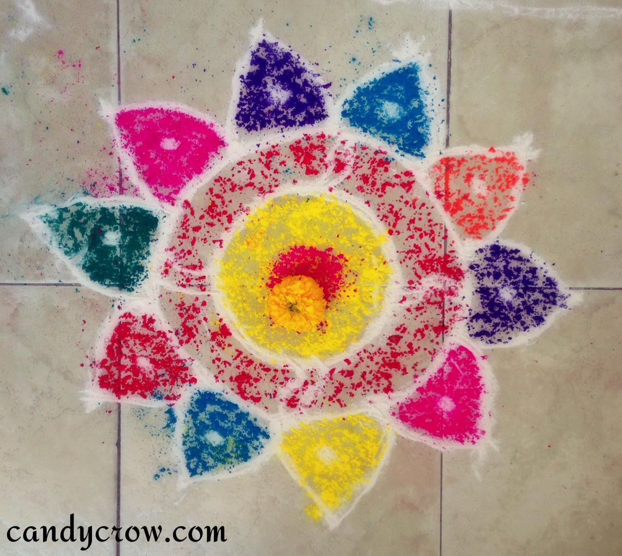 A Easy Drawing On Diwali 20 Beautiful Simple Peacock Rangoli
