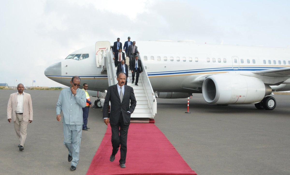 <President Isaias Afwerki returns home