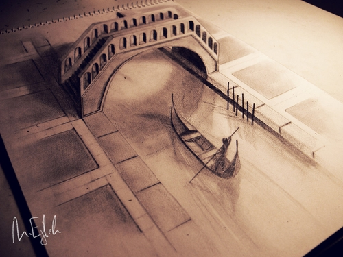 06-Venice-Muhammad-Ejleh-2D-Like-3D-Drawings