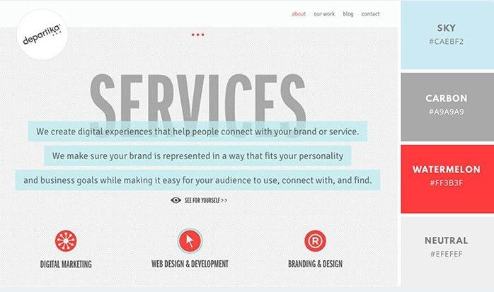 50 cách phối màu theo chủ đề đẹp và chất cho website