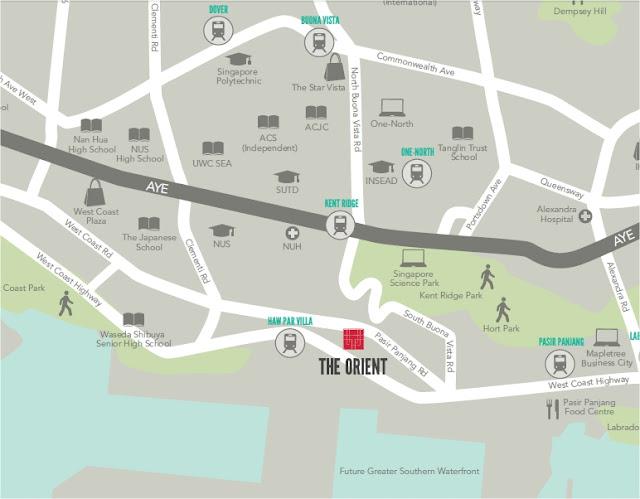 The Orient @ Pasir Panjang Location