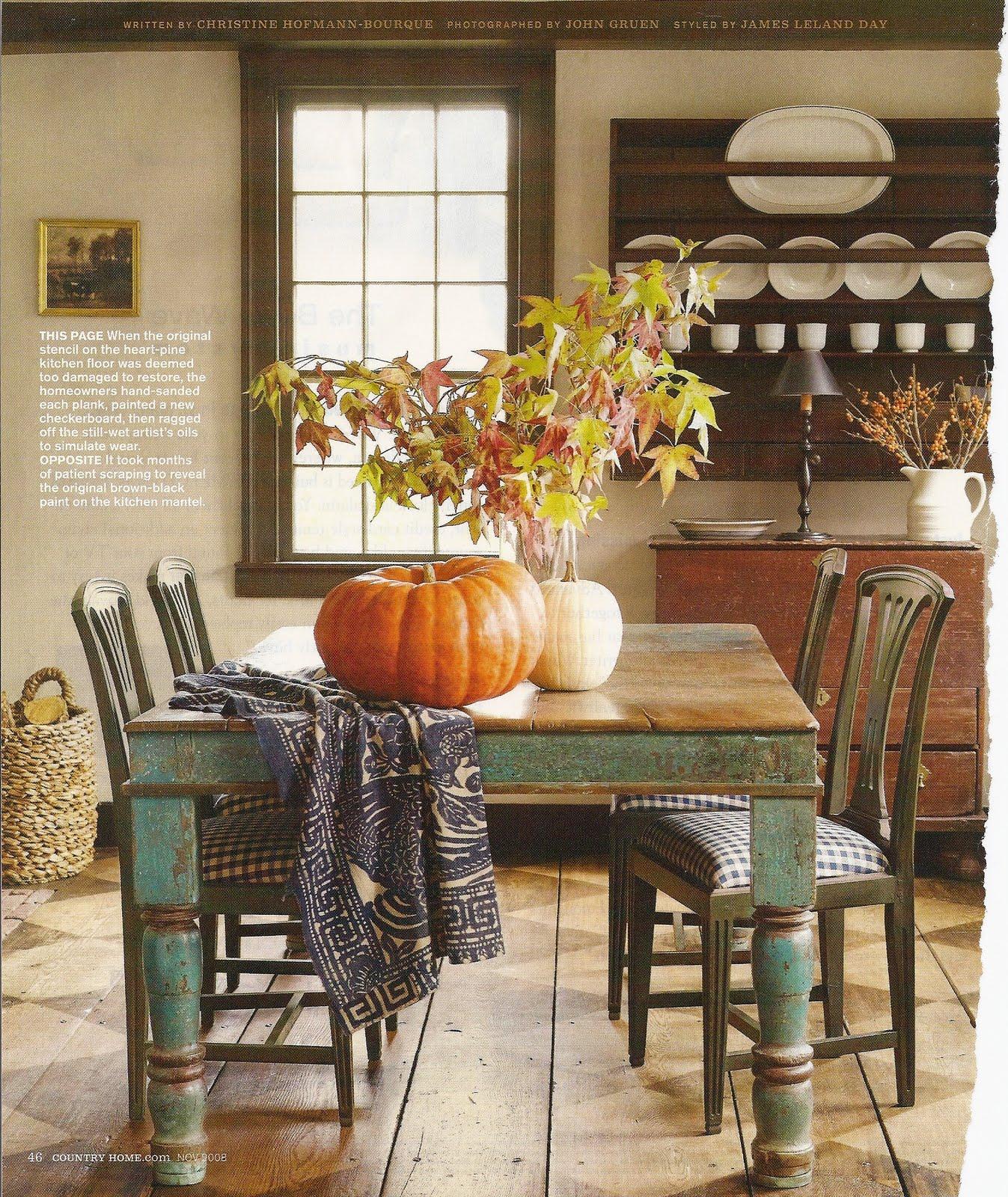 Farmhouse Kitchen Fall Decorating Ideas: Quilted Nest: Autumn Farmhouse Inspiraton