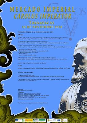 """Mercado Imperial """"Carolus Imperator-Carlos V"""". 10 y 11 de noviembre en Tornavacas (Otoñada 2018)"""