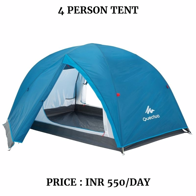 4 person tent for rent in Manali