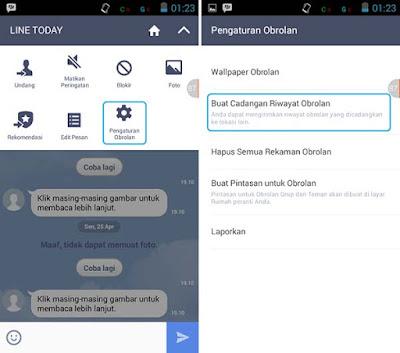 Backup Riwayat Obrolan LINE Android