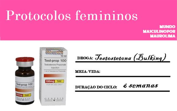 Anabólica #59  Ciclo  Feminino  de  Testosterona (Bulking)