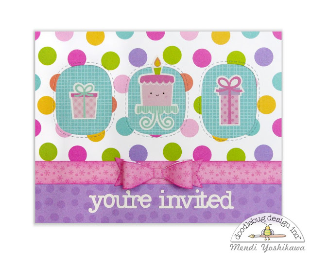 Doodlebug Design Fairy Tales Birthday Party Invitation for Girls by Mendi Yoshikawa