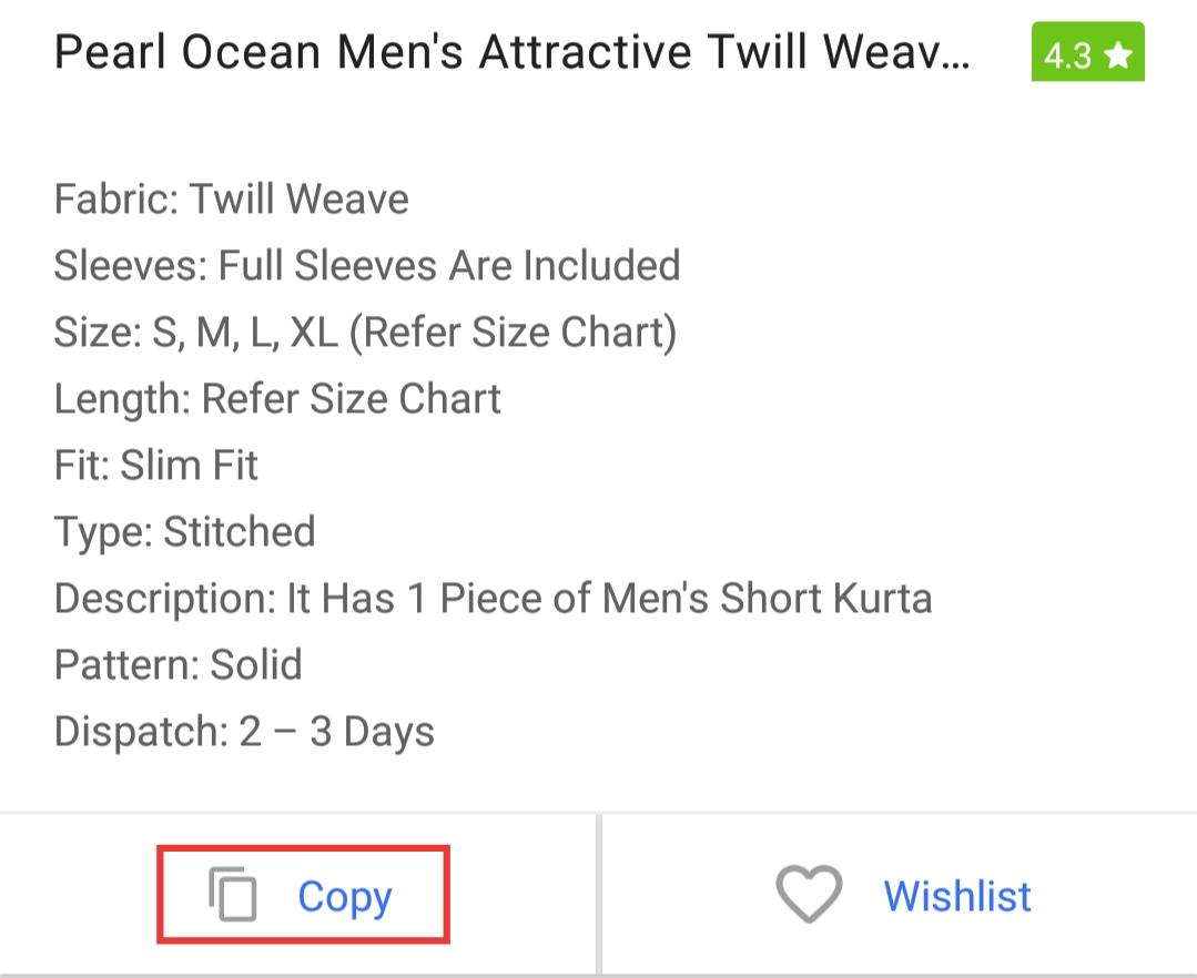 Copy details
