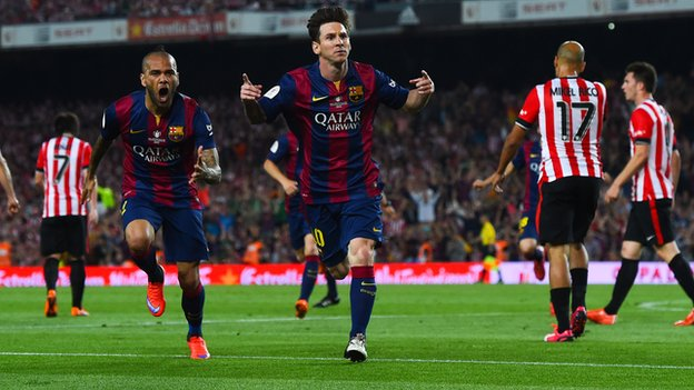 Barcelona vs Athletic Bilbao Messi Pics