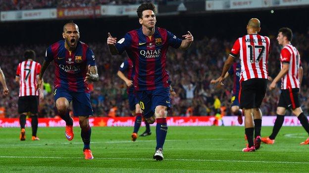 Barcelona vs Athletic Bilbao Messi Pics