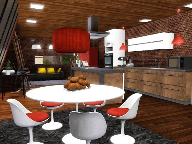 séjour décoration design sims 3