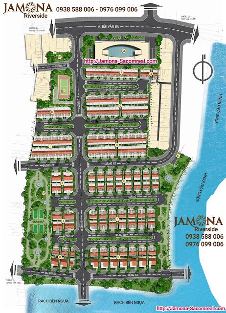 Mặt bằng tổng thể dự án Jamona Riverside