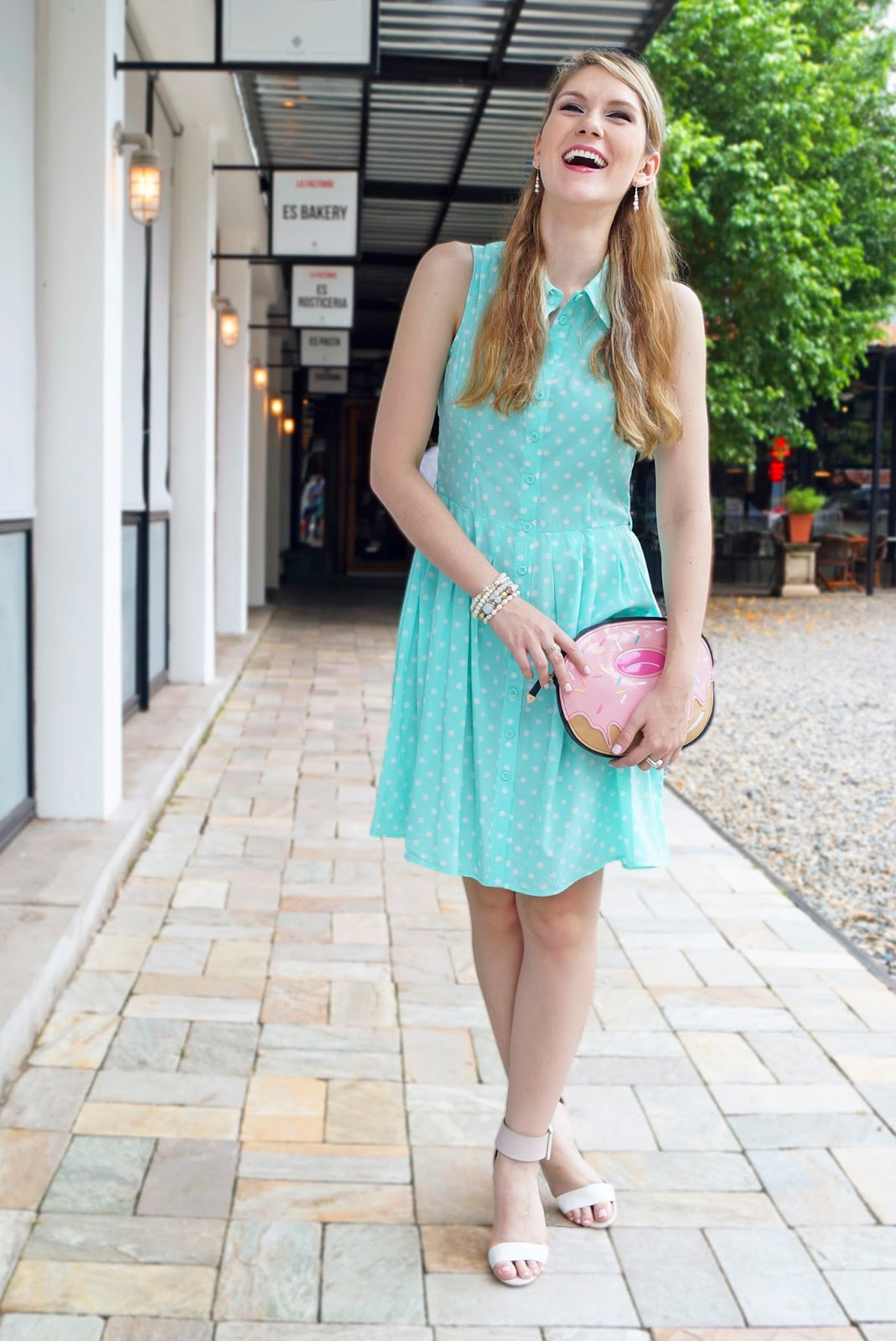 Cute Polka Dot Dress Outfit for Spring!