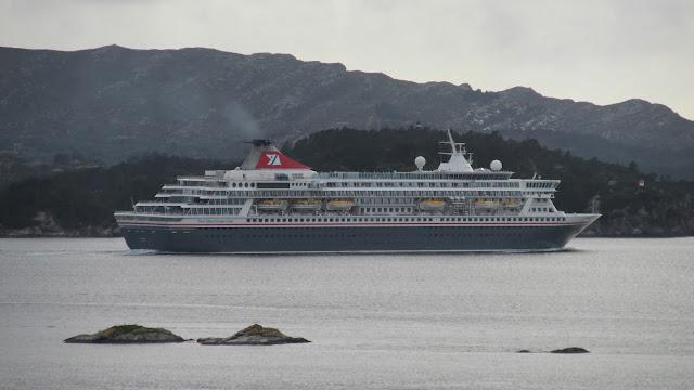 Cruise ship Balmoral in Bergen, Norway
