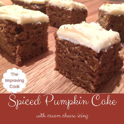 Spiced Pumpkin Cake pinnable image