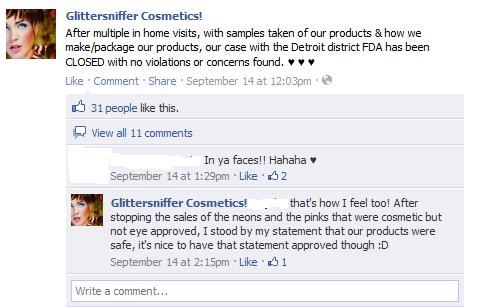 GlitterSniffer Complaints