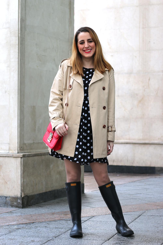 Outfit Con Botas De Agua Y Vestido | Me Myself My Wardrobe | Bloguera Y Youtuber De Moda ...