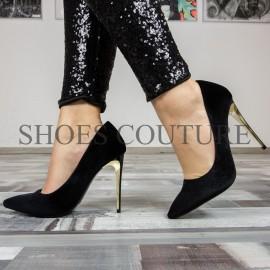 Pantofi catifea Stiletto Black Velvet