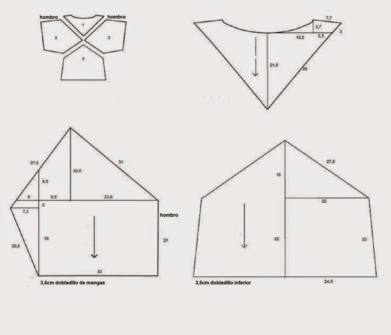 top de piezas geométricas