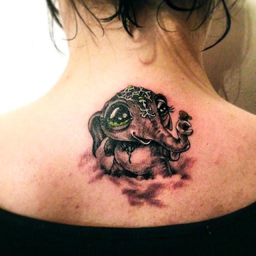 Correspondência De Bebês Elefantes Tatuagem