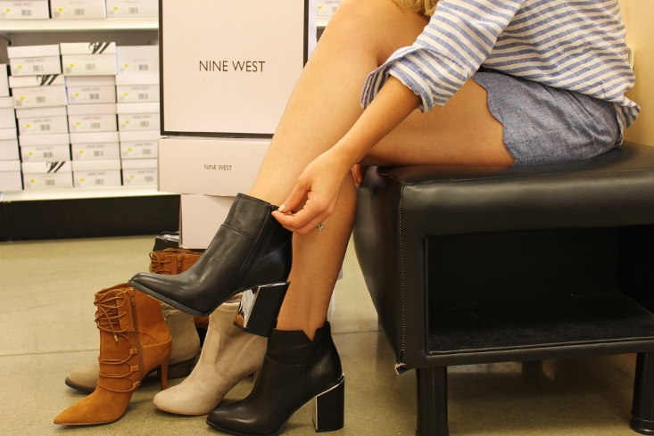 Nine West Mirror Heel Ankle Boots