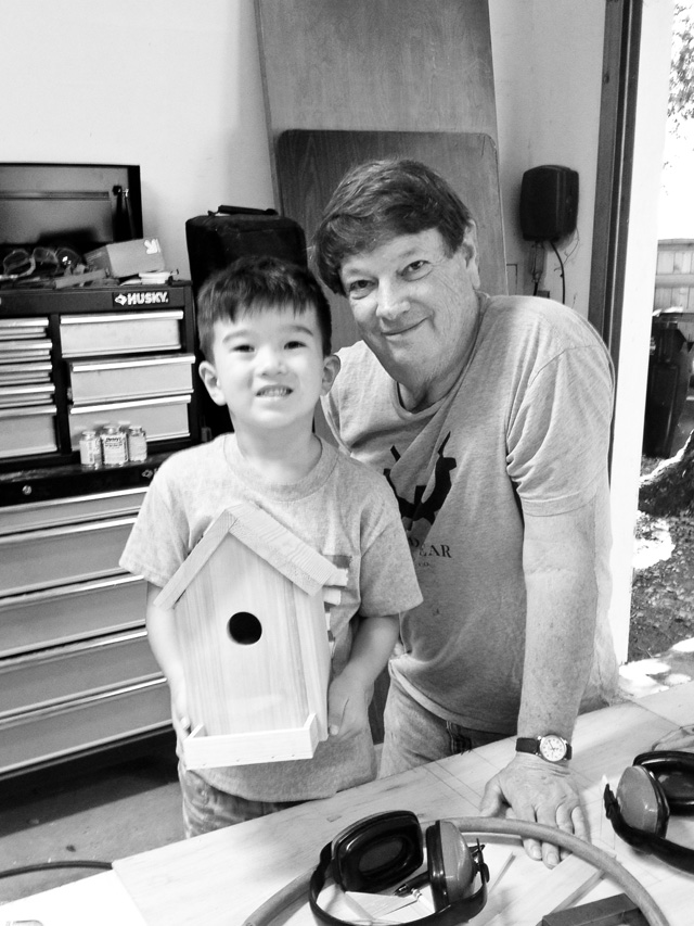 building a birdhouse with a 6 year old
