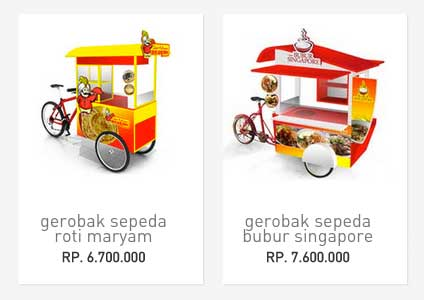 gerobak sepeda unik