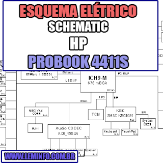 Esquema Elétrico Notebook HP Probook 4411S Laptop Manual de Serviço  Service Manual schematic Diagram Notebook HP Probook 4411S Laptop   Esquematico Notebook HP Probook 4411S Lapto