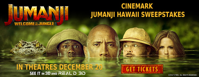 Cinemark Jumanji Sweepstakes
