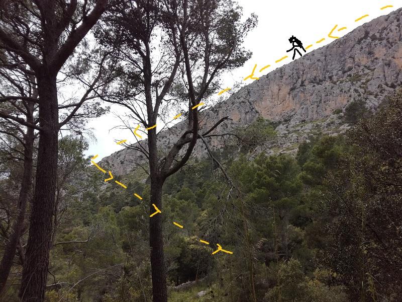 Discesa dal Puig de Galatzó - Mallorca