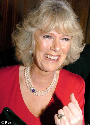 Camilla, Duchess of Cornwall, in pearl necklace