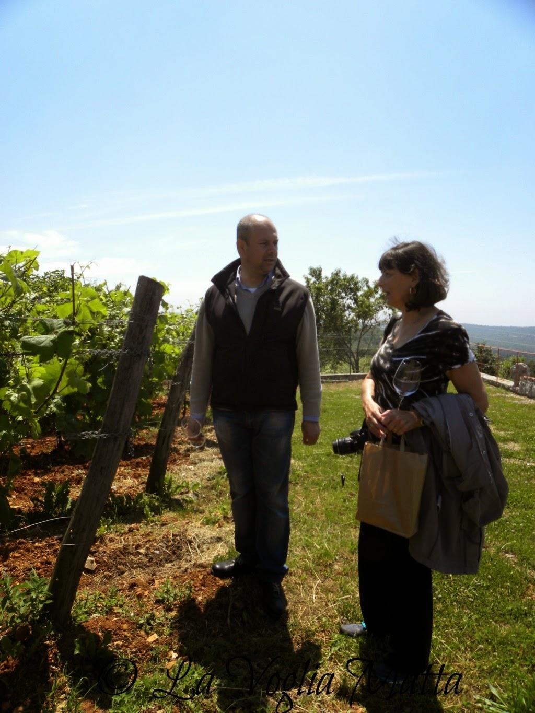 Beniamino Zidarich e Linda in vigna