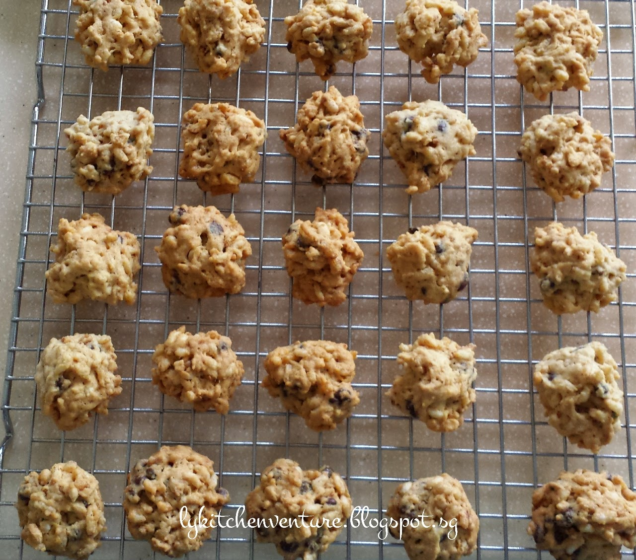 Ly S Kitchen Ventures Chocolate Bubble Rice Cookies 泡泡米曲奇