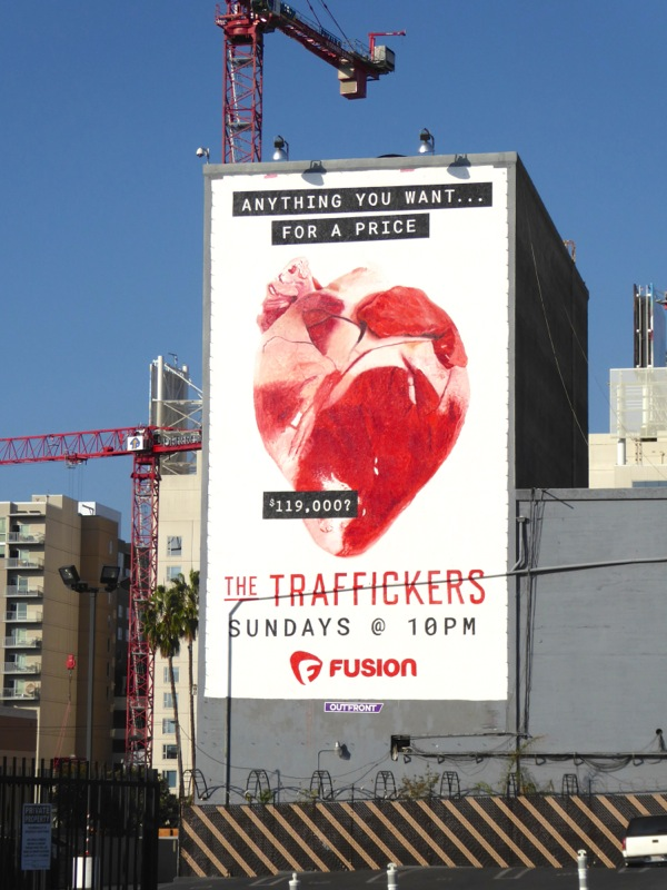 Traffickers series premiere billboard