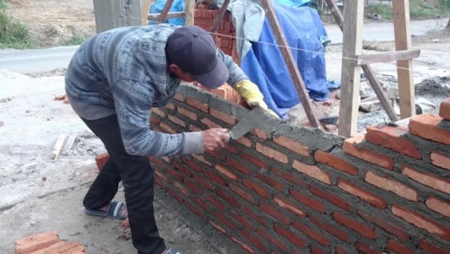 plesteran dinding atau tembok