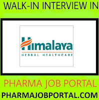 Urgent Vacancy at Himalaya Company - Freshers or Experienced - Multiple Vacancy