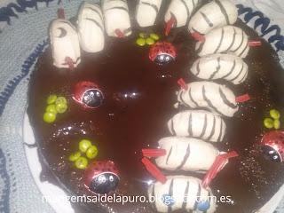tarta-gusano-donetes-fácil