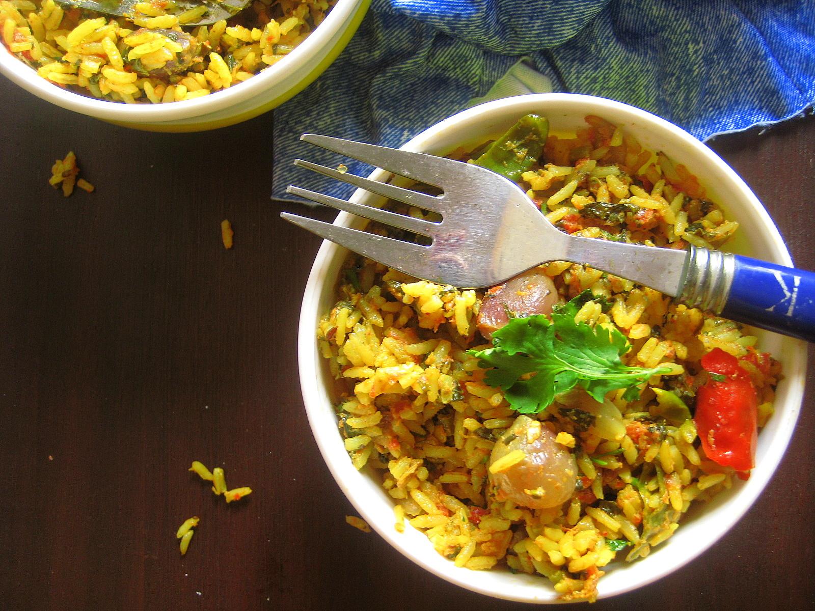 madhuri's kitchen: Amaranthus Rice Cooked in coconut milk ...