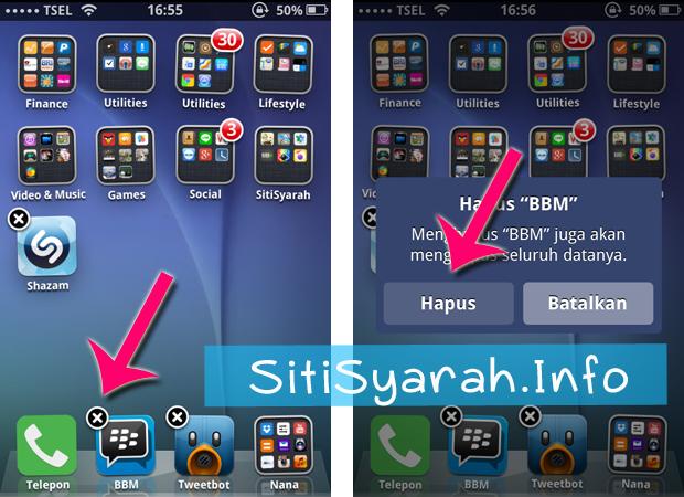 cara mudah dan cepat hapus game coc di iphone