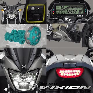 Fitur Terbaru Yamaha Vixion New