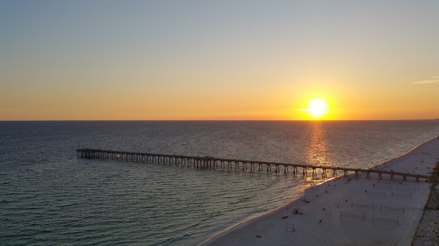 Sunset and Dock at Panama City Beach