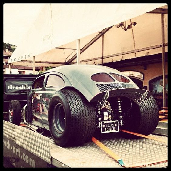 Vw Bug Drag Motor: INSANNOS: Volks Fusca Rat Rod
