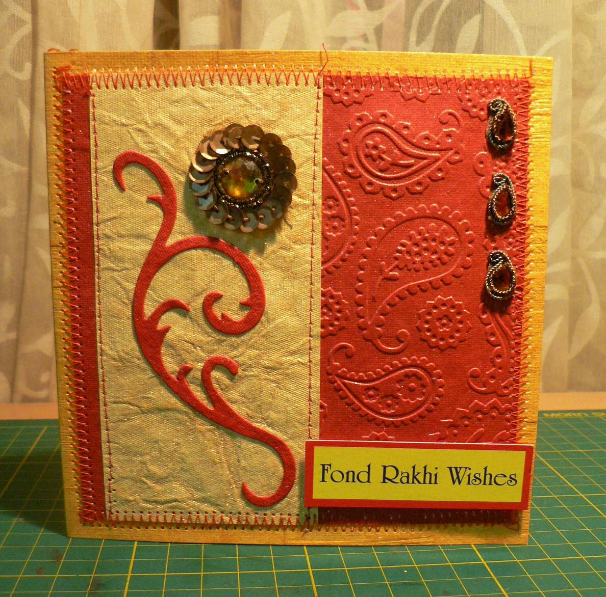juhi's handmade cards rakhi cards  2011