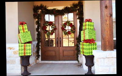 New Design for Best and Latest Style for Unique Christmas Front Door Decorations