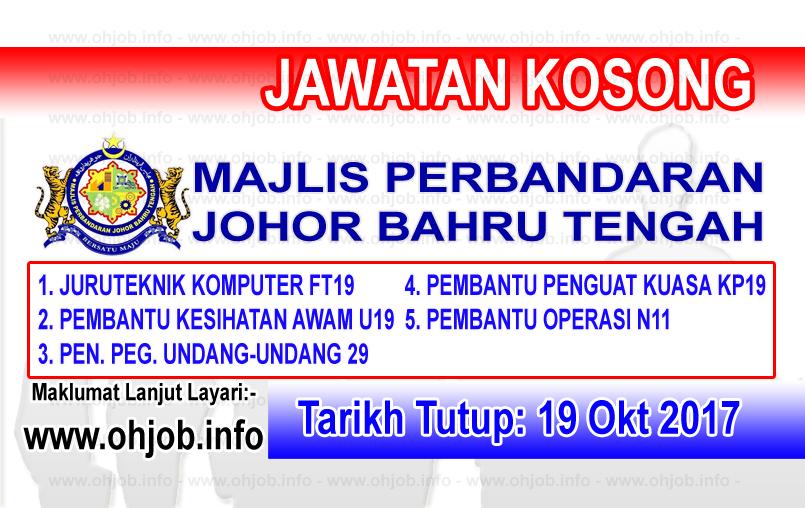 Jawatan Kerja Kosong MPJBT - Majlis Perbandaran Johor Bahru Tengah logo www.ohjob.info oktober 2017