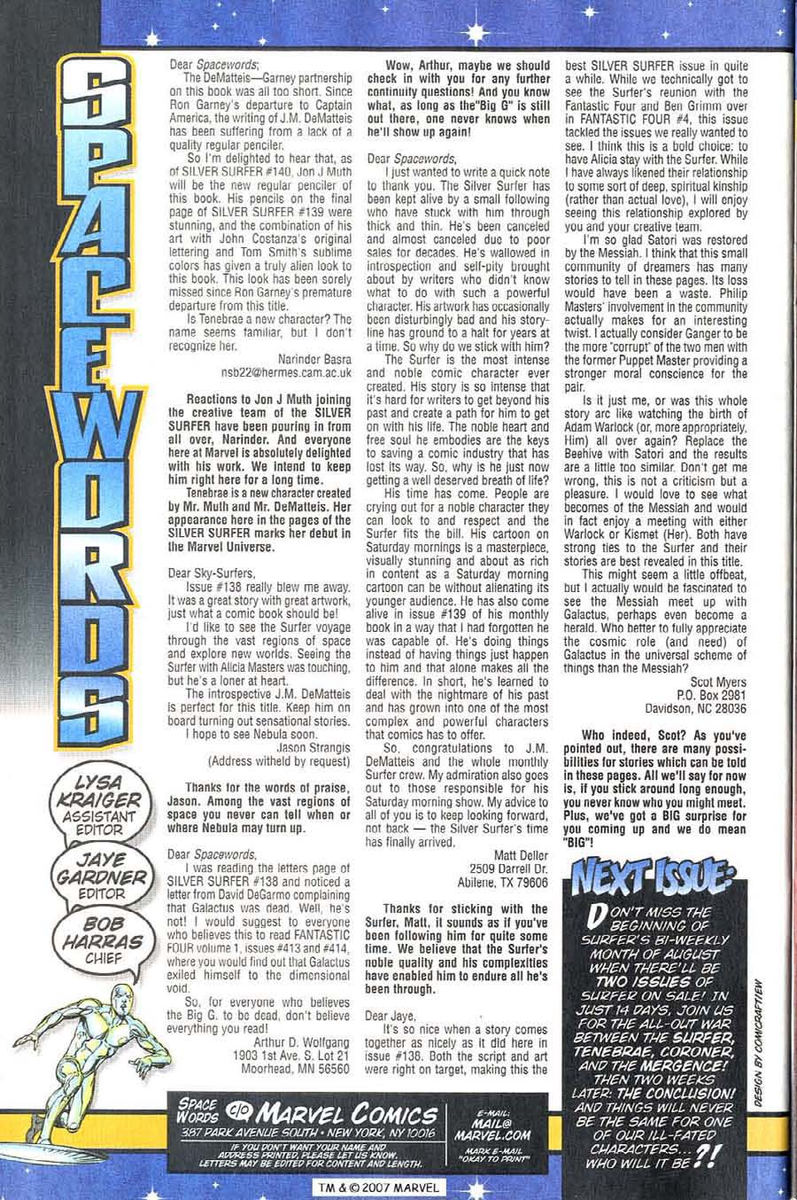 Read online Silver Surfer (1987) comic -  Issue #143 - 36