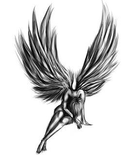 тату крылья +на спине